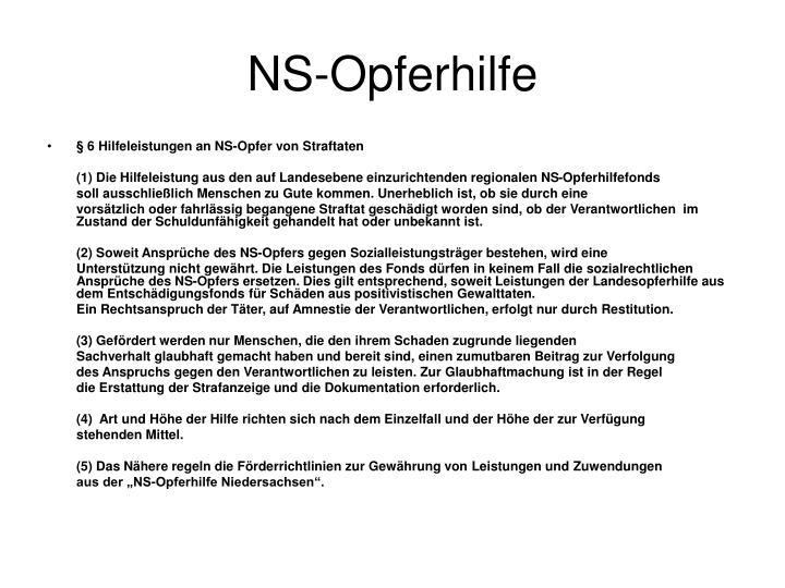 NS-Opferhilfe