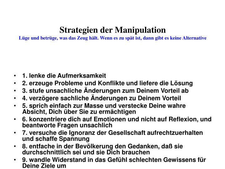 Strategien der Manipulation