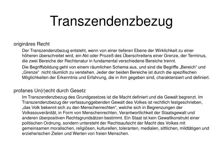 Transzendenzbezug