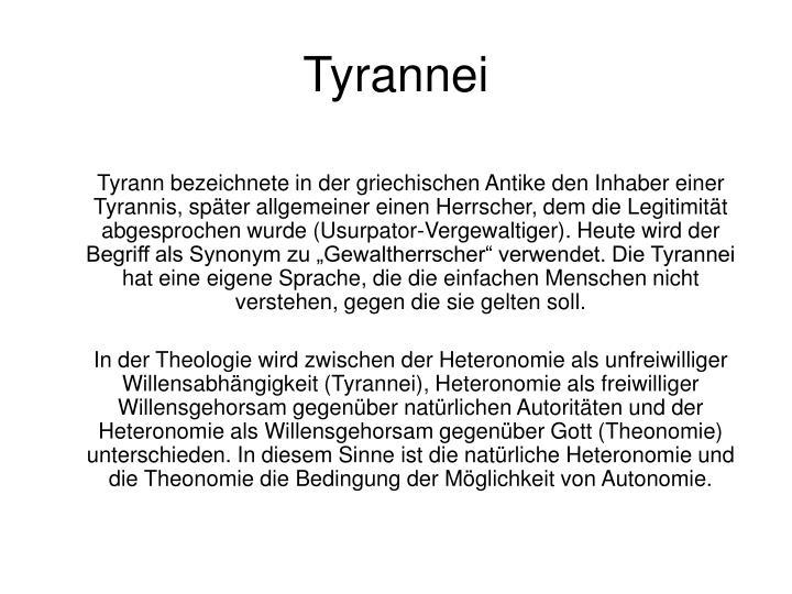 Tyrannei