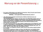 warnung vor der personifizierung 2 3