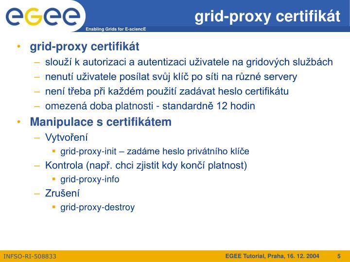 grid-proxy certifikát