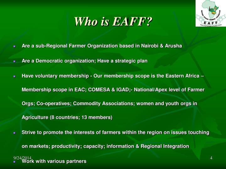 Who is EAFF?