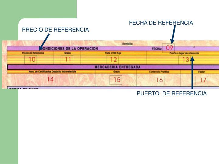 FECHA DE REFERENCIA