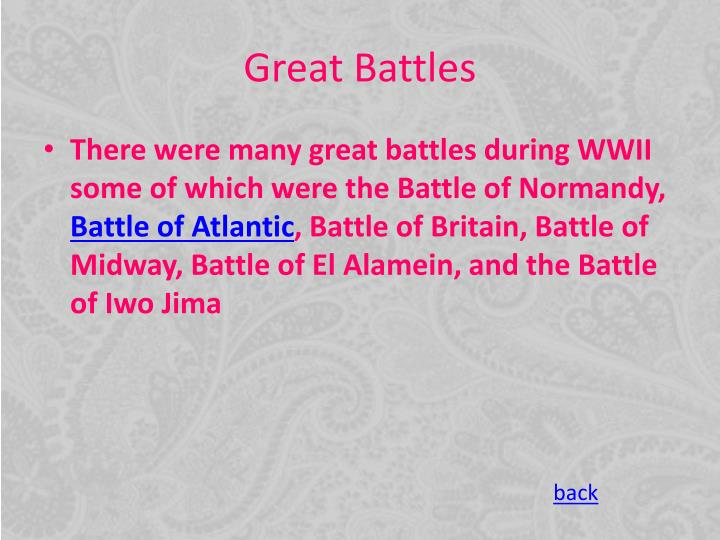 Great Battles