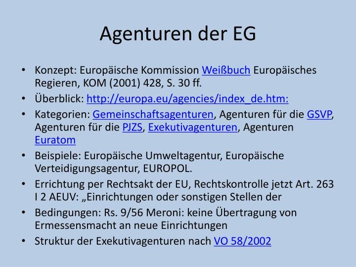 Agenturen der EG