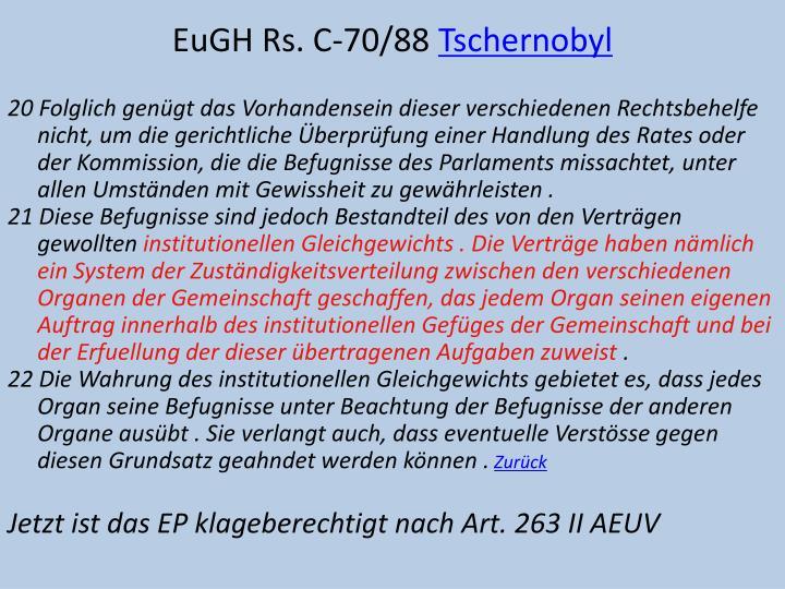 EuGH Rs. C-70/88