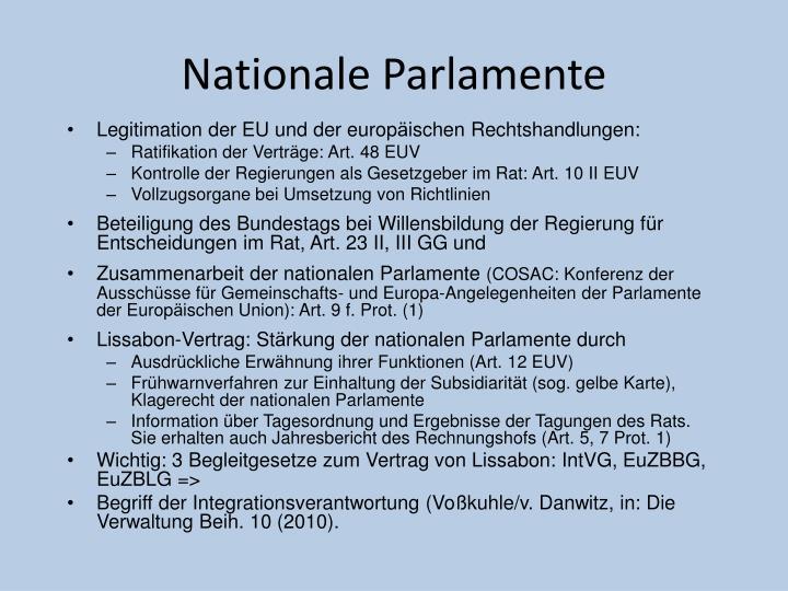 Nationale Parlamente