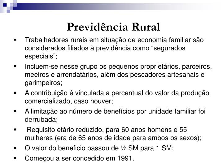 Previdência Rural