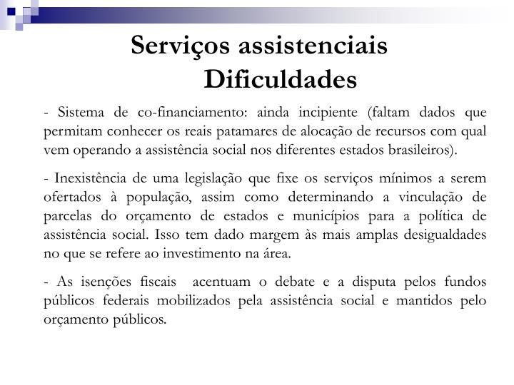 Serviços assistenciais
