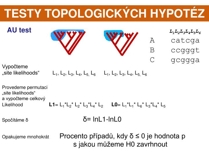 TESTY TOPOLOGICKÝCH HYPOTÉZ