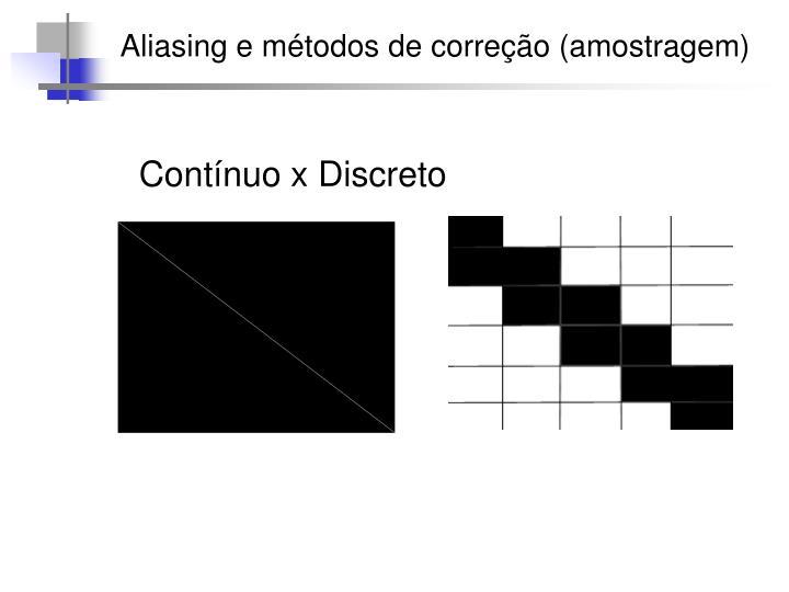 Aliasing e métodos de correção (amostragem)