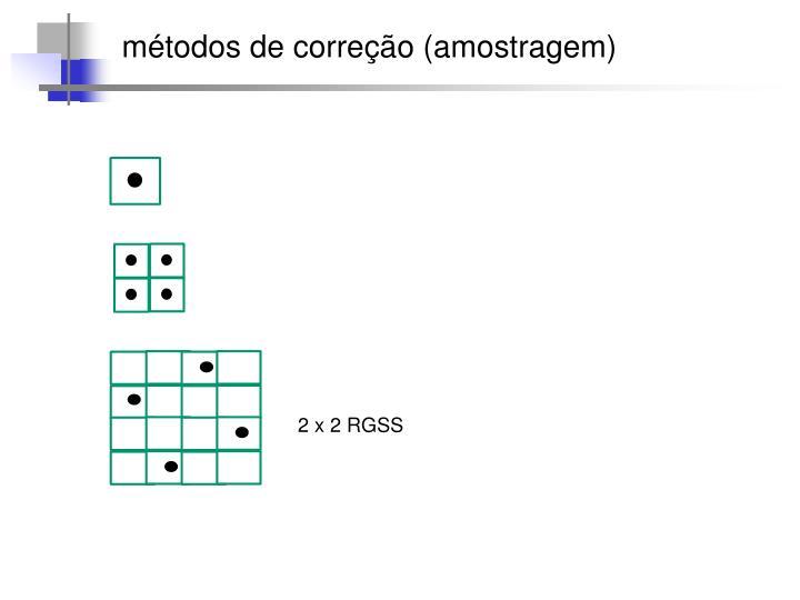 métodos de correção (amostragem)