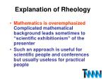 explanation of rheology