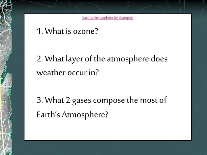 Earth's Atmsophere by Brainpop