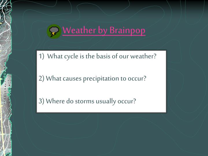 Weather by brainpop