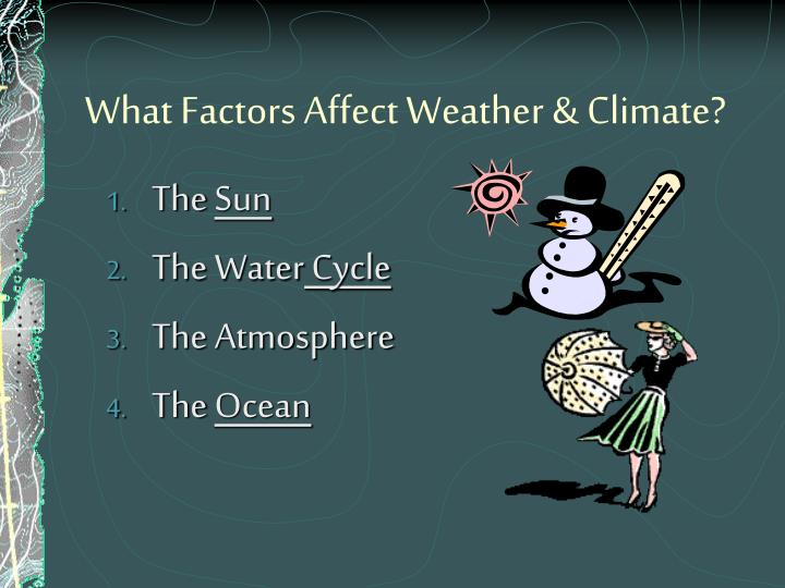 What Factors Affect Weather & Climate?