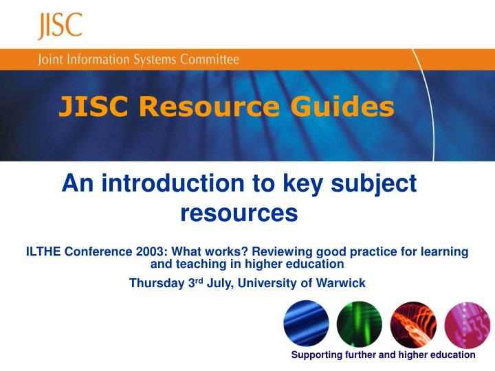 JISC Resource Guides