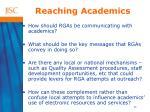 reaching academics