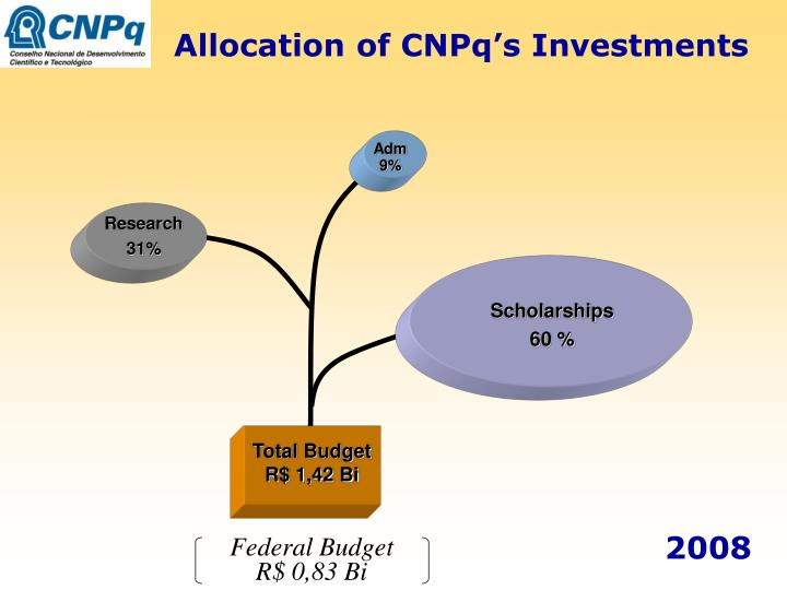 Allocation of CNPq's Investments