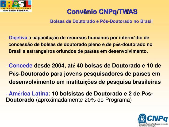 Convênio CNPq/TWAS