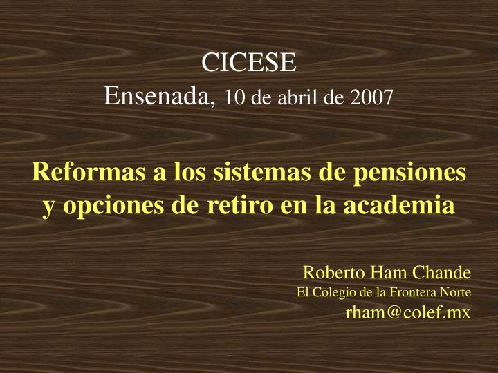 Cicese ensenada 10 de abril de 2007