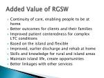 added value of rgsw