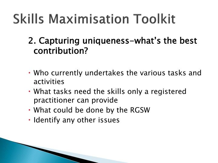 Skills Maximisation Toolkit