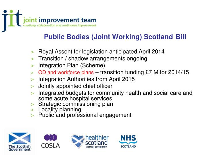 Public Bodies (Joint Working) Scotland