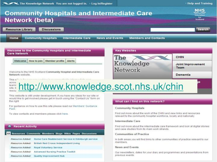 http://www.knowledge.scot.nhs.uk/chin