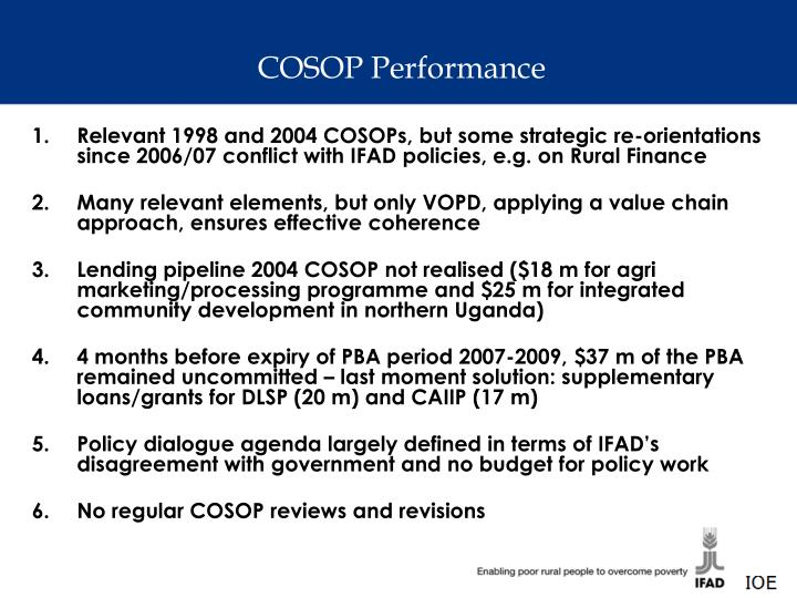 COSOP Performance