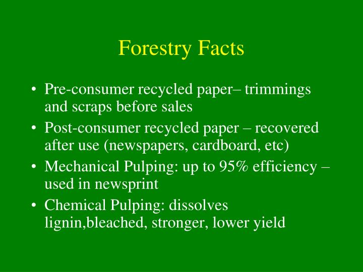 Forestry Facts
