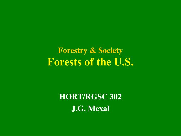 forestry society forests of the u s