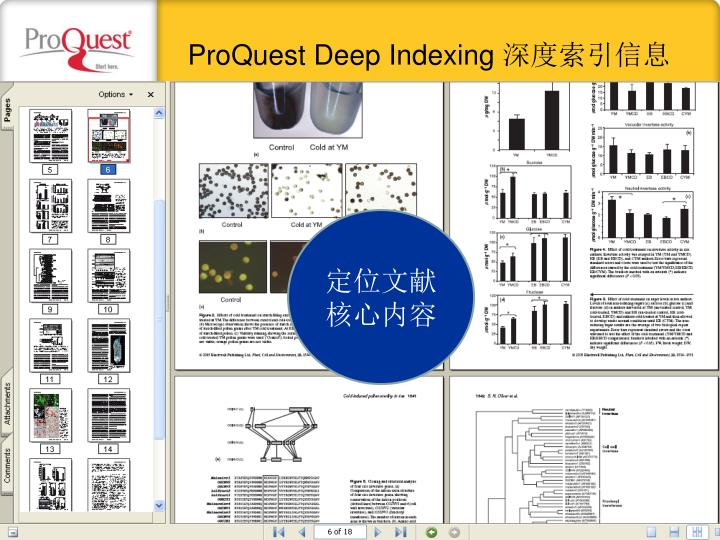 ProQuest Deep Indexing