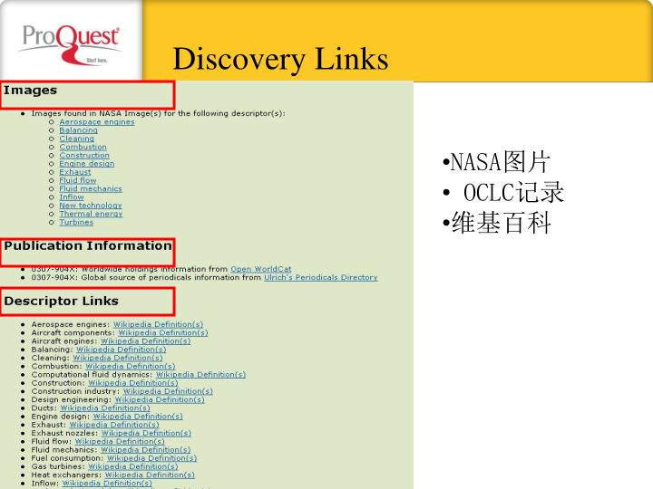 Discovery Links