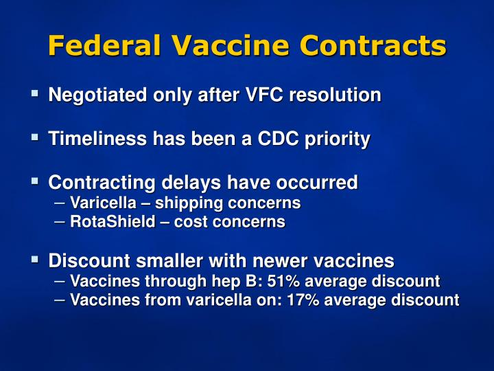 Federal Vaccine Contracts