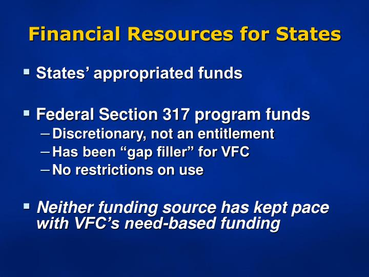 Financial Resources for States