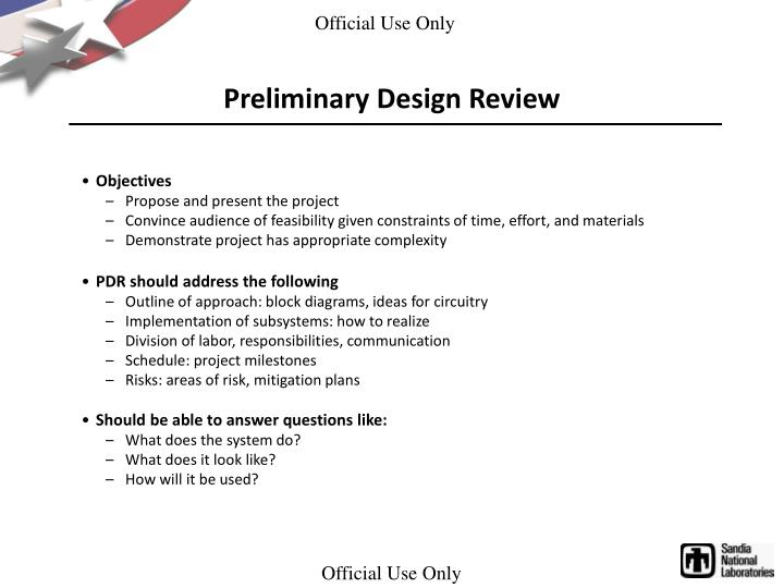 Preliminary Design Review
