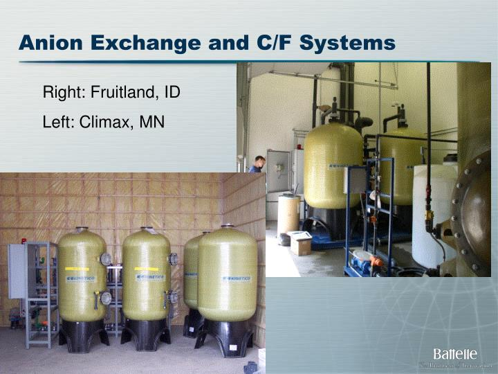 Anion Exchange and C/F Systems