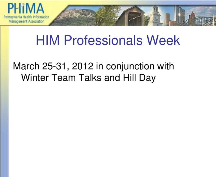 HIM Professionals Week