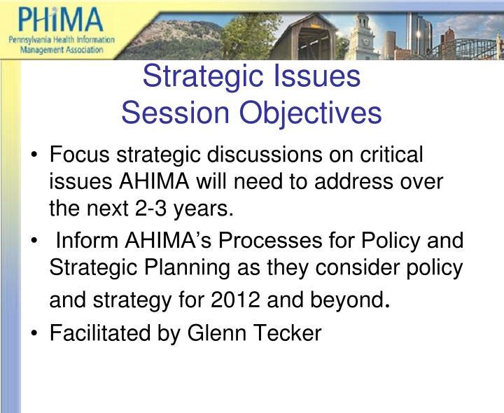 Strategic Issues