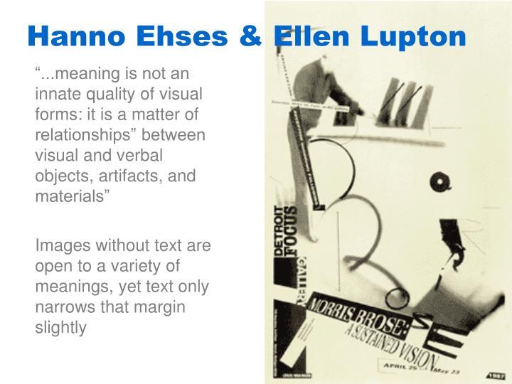 Hanno Ehses & Ellen Lupton