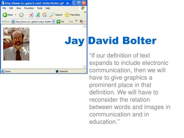 Jay David Bolter