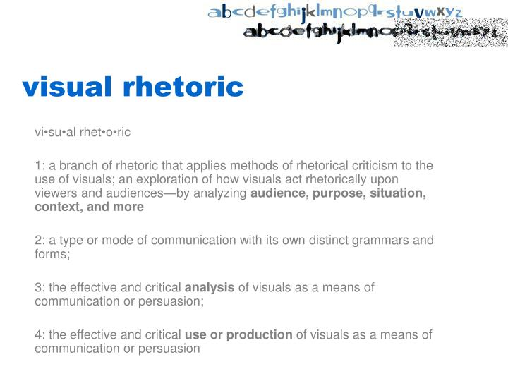 visual rhetoric