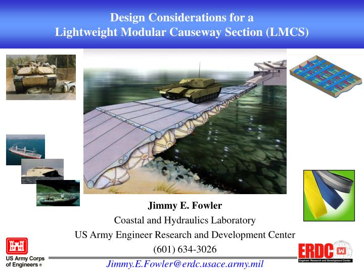 Design considerations for a lightweight modular causeway section lmcs