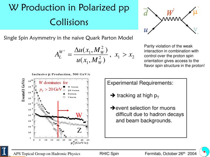 W Production in Polarized pp Collisions
