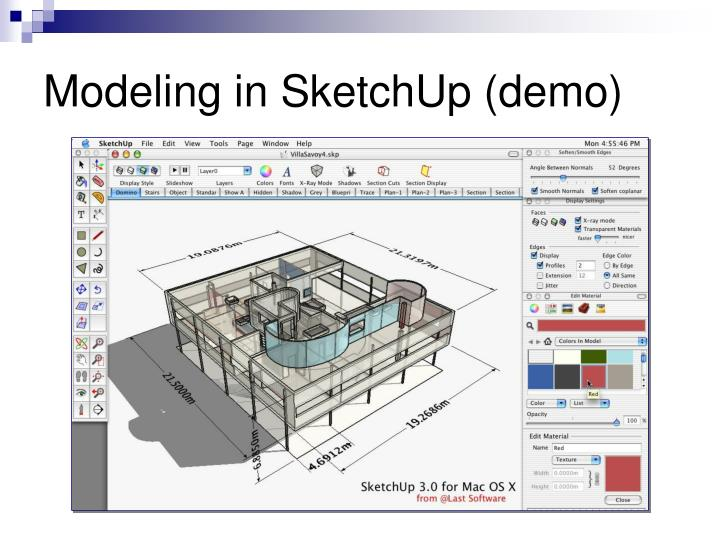 Modeling in SketchUp (demo)