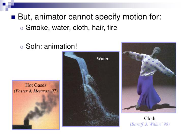 But, animator cannot specify motion for: