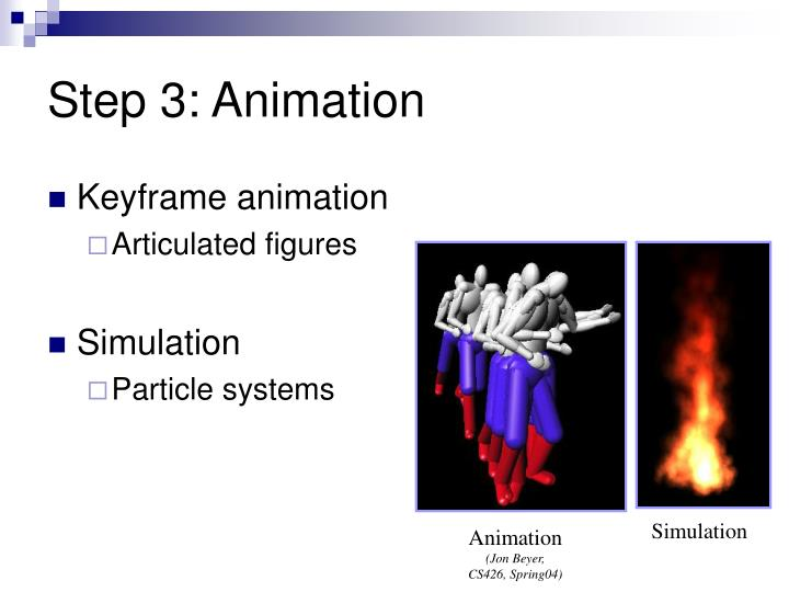 Step 3: Animation