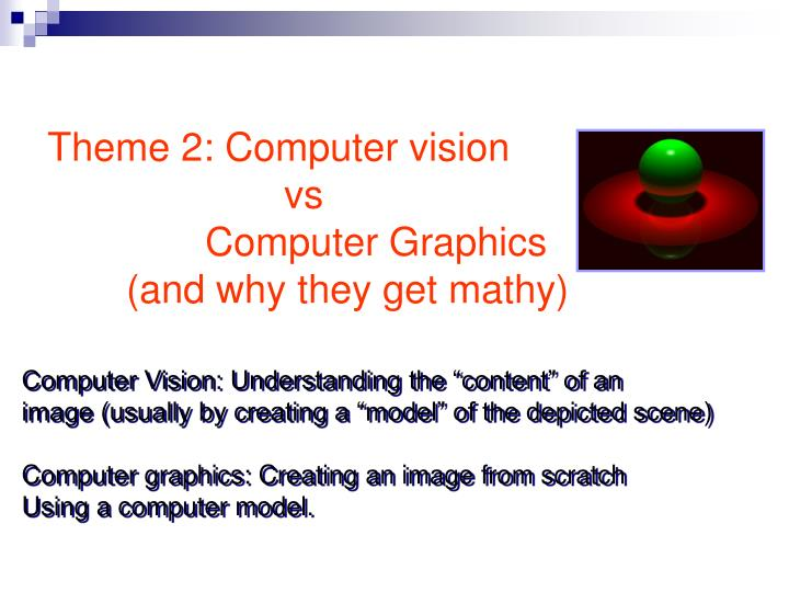 Theme 2: Computer vision